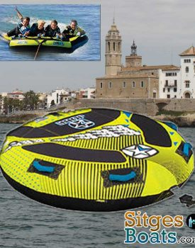 sitges-boat-hire-donut 2-4